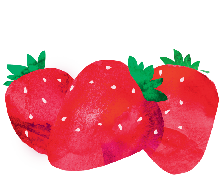 tvaroh milko jahody